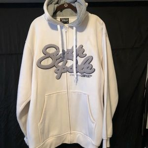 Men's white South Pole hoodie